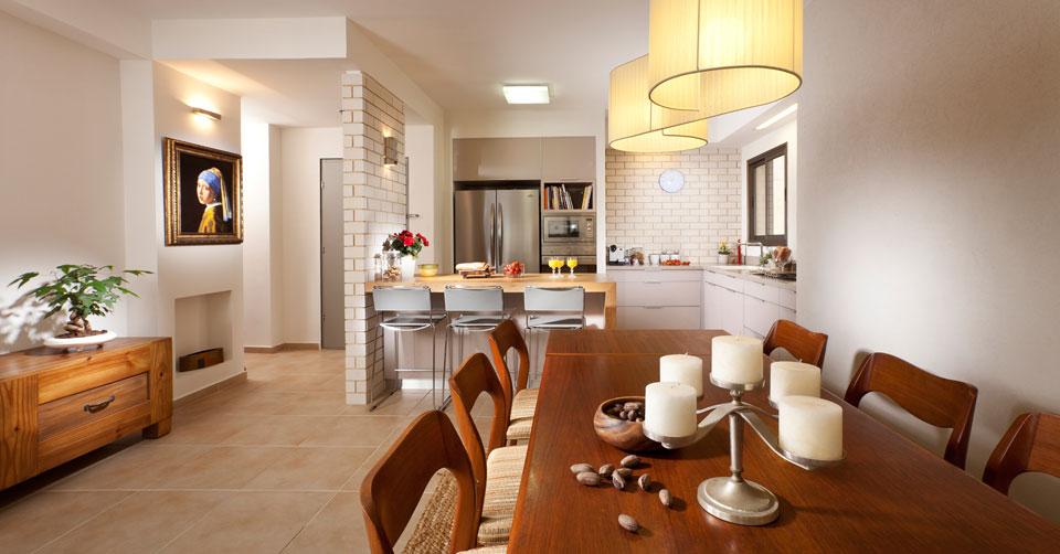 עיצוב מרשים וקלאסי לדירת קבלן בעיר ימים